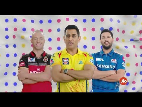 Jio Ads Vivo IPL 2019 All Teams DJ Bravo And Andre Russell