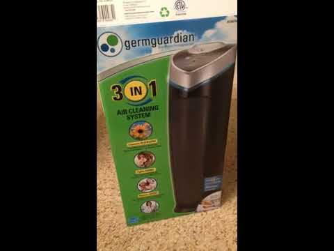 Germguardian 3-in-1 Air Cleaning System with HEPA filter and UV Sanitizer review