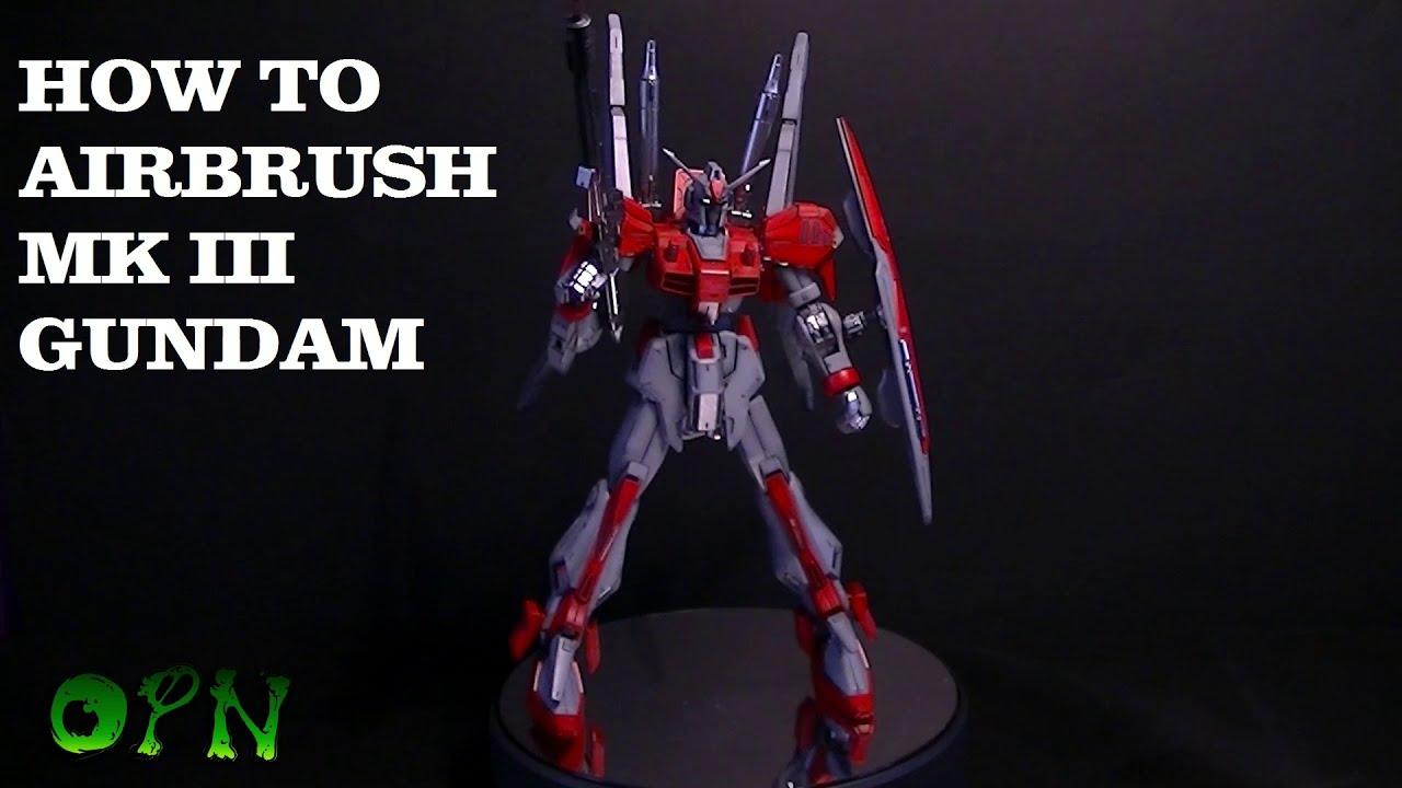 How to airbrush MK III Gundam