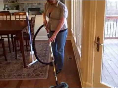 Central Vacuum Retractable Hose Demonstration