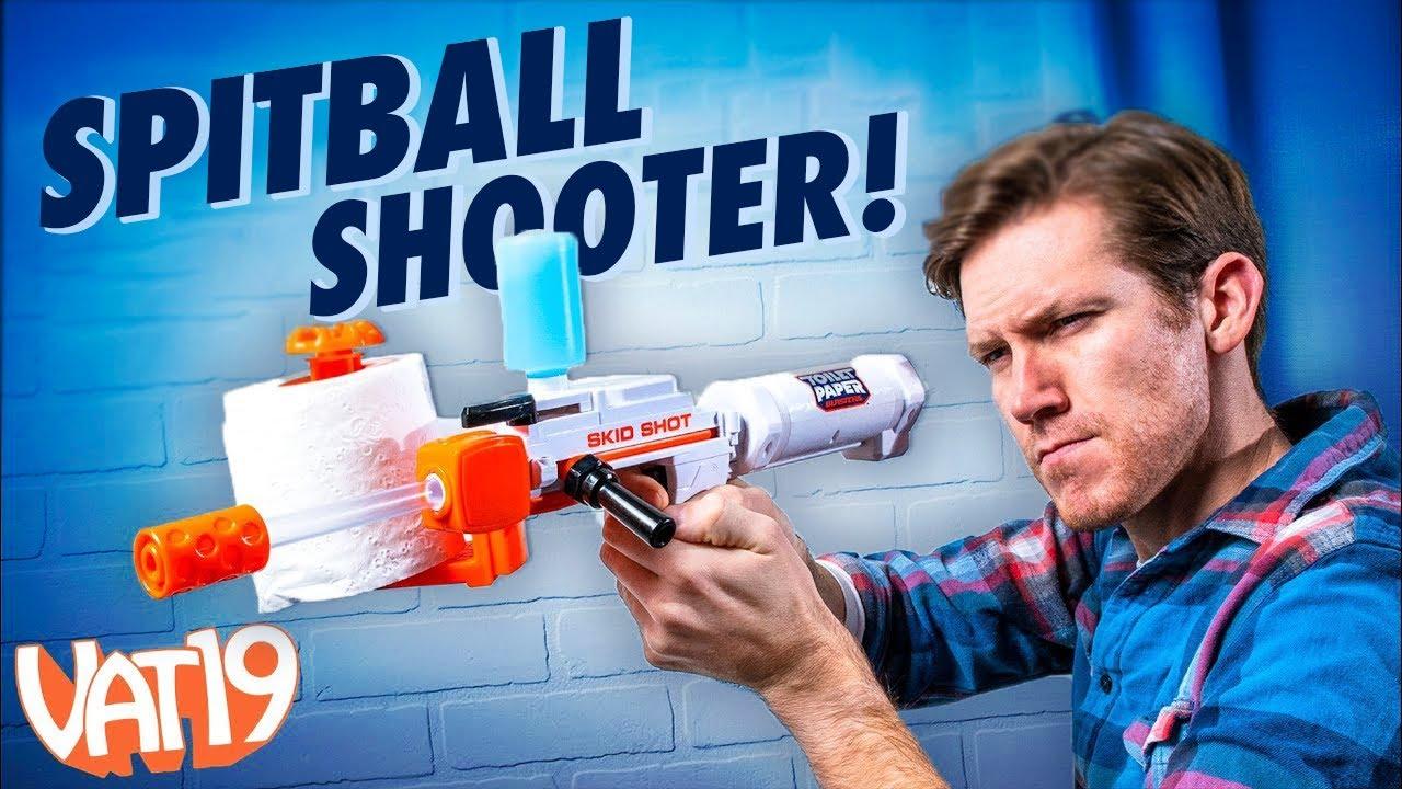 It Shoots Toilet Paper Spitballs!