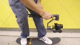 Skateboarding with the Red Dog R1 Stabilizer