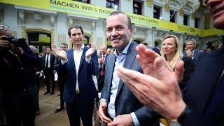 Manfred Weber na campanha austríaca