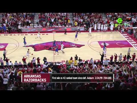 Bud Walton Arena Top Ten Moment: Arkansas defeats #2 Florida