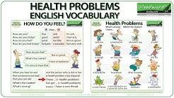 Health Problems - English Vocabulary