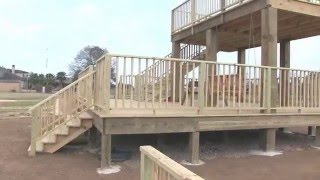 Tour of the Star Creek Ranch 2 story deck and pond Feb 1 2016