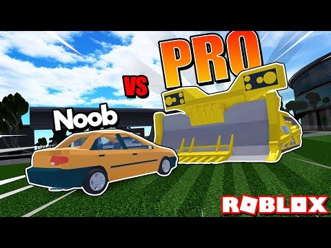 Noob Vs Pro Car Crushers 2 Super Overpowered Roblox Youtube