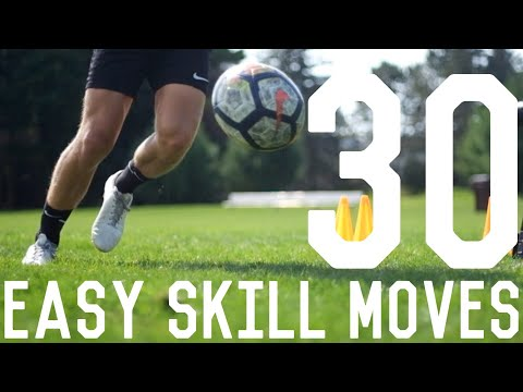 30 Easy Dribbling Moves To Beat Defenders | Learn These 30 Dribbling Skills