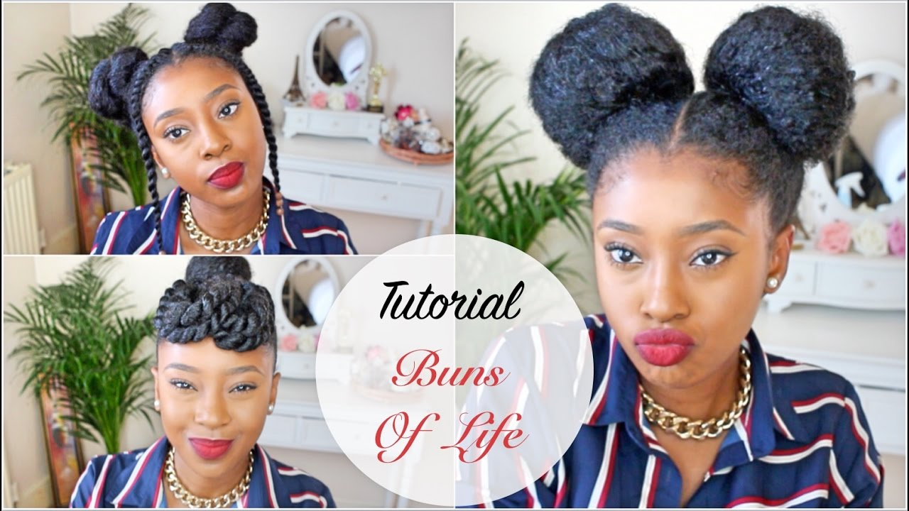 Natural Hair Styles Youtube: Three 10 Minute Natural Hair Styles 👑 Buns Of