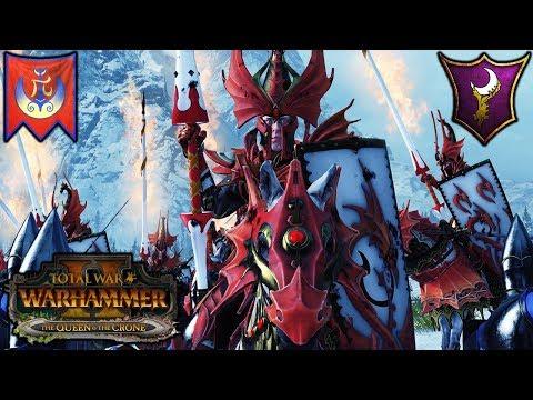 FIREBORN and SHADOW WARRIORS - High Elves vs. Dark Elves - Total War Warhammer 2 Gameplay |