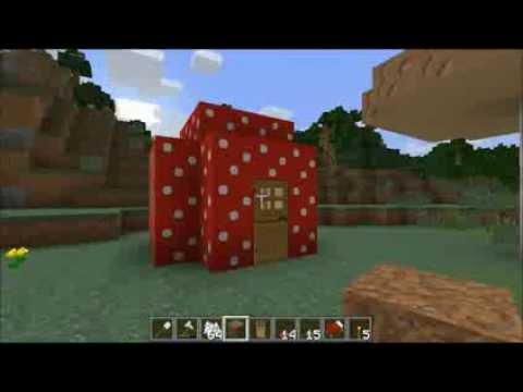 MinecraftTutorial Riesenpilze Bauen Pilze Farmen Pilzhäuser - Minecraft dorfbewohner bauen hauser mod