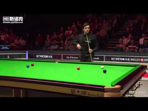 Ronnie O'Sullivan Unbelievable Steal at Welsh Open 2014 Vs. Barry Hawkins