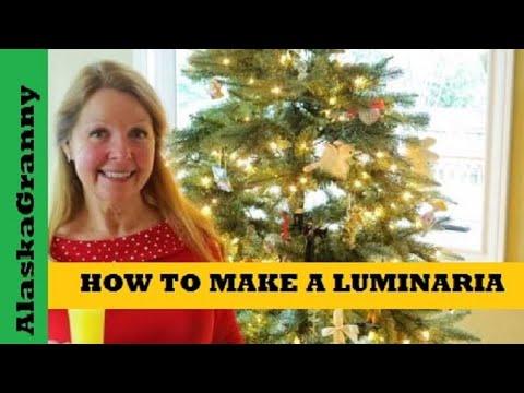 How To Make Luminarias- Christmas Candle Lanterns- Easy Christmas Crafts