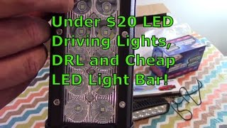 Under $20 LED Driving Lights, DRL and Cheap LED Light Bar! -Cheap Chinese LED-