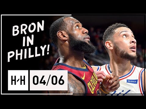 LeBron James Triple-Double Full Highlights vs 76ers 2018.04.06 - 44 Pts, 11 Reb 11 Ast, EPIC DUNKS!