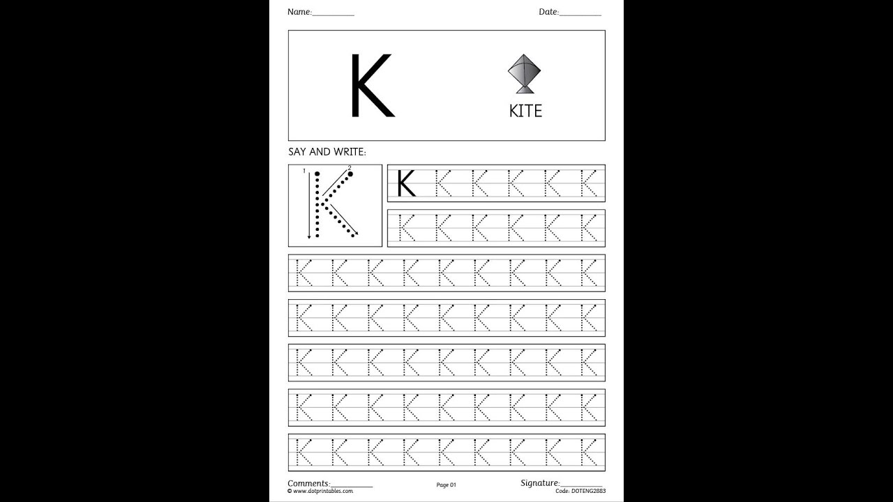 ABC Dot Handwriting Worksheets