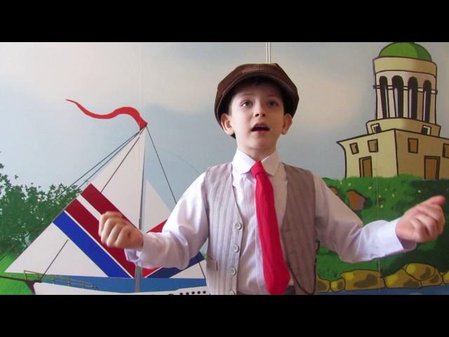 Изображение предпросмотра прочтения – ГришаРадостев читает произведение «Эта книжечка моя про моря и про маяк» В.В.Маяковского