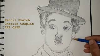 How to draw Charlie Chaplin Portrait for beginners