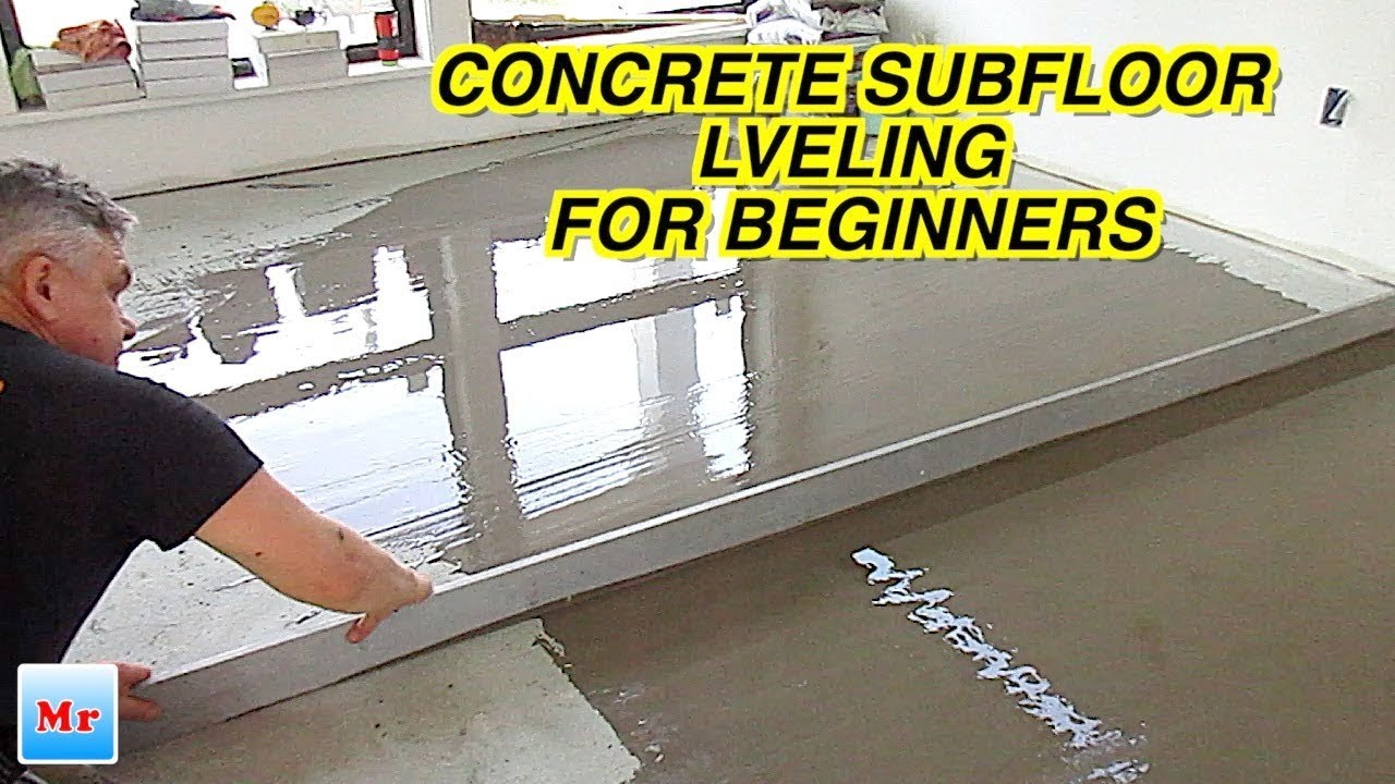How To Concrete Floor Leveling With