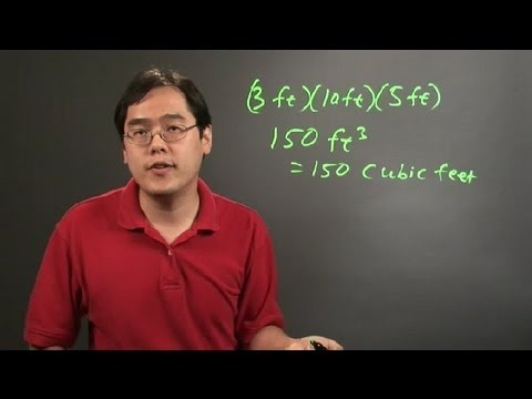 how to work out cubic feet