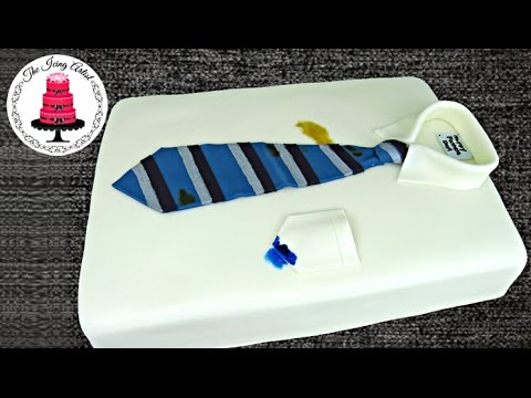 Fathers Day Neck Tie And Shirt Cake