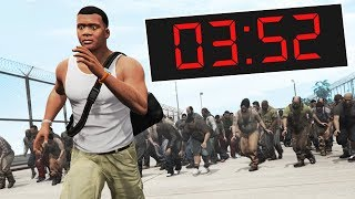 GTA 5 - EVERY 1 SECOND = ZOMBIE SPAWNS! (Escape)