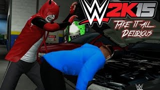 WWE 2K15 - CaRtOoNz vs H2O Delirious (Table Match w/ Bonus Backstage Brawl!)