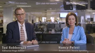 House Speaker Nancy Pelosi meets with Post-Dispatch's Tod Robberson