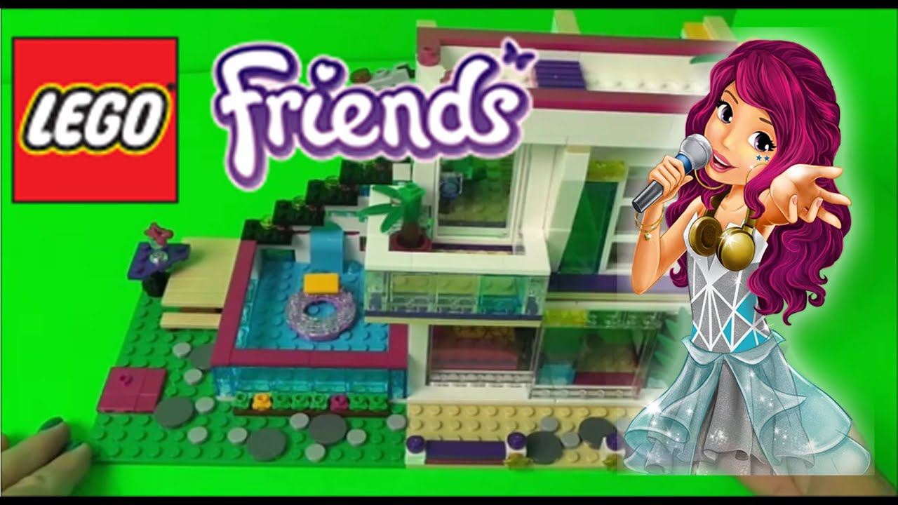 Lego Friends Livis Pop Star House Set Build Review Kids Toys Set