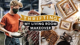 THRIFTING My Dream LIVING ROOM MAKEOVER!