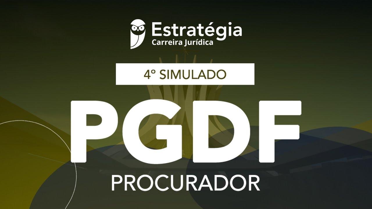 4º Simulado Procurador da PGDF - Correção