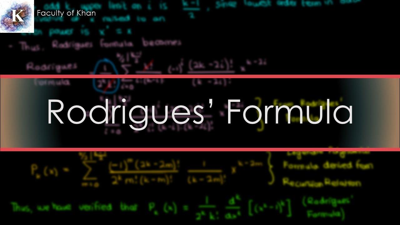 Legendre's ODE III: Verifying/'Proving' Rodrigues' Formula ...