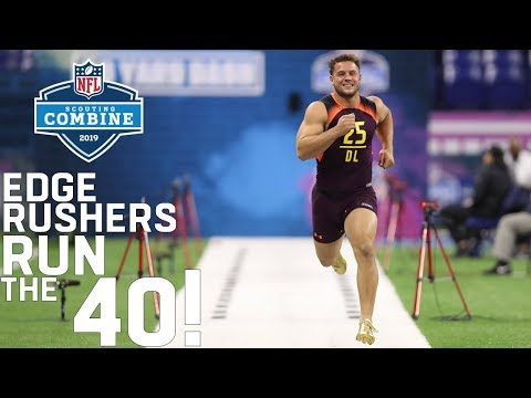 Edge Rushers Run The 40-Yard Dash | 2019 NFL Scouting Combine Highlights