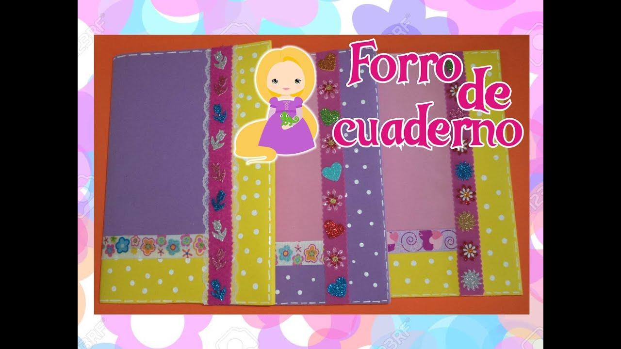 Book Cover Forros You Tube ~ Forro de cuaderno decorado en foami how to make a book