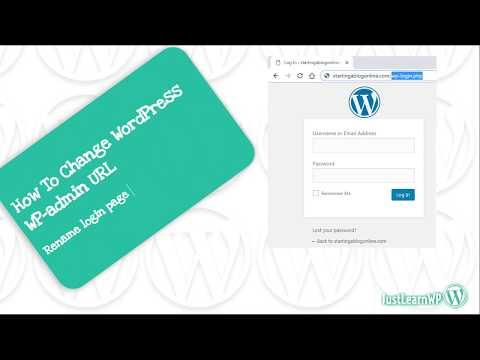 How To Change WordPress Login URL (WP Admin URL) - Rename WP login.php Page 1
