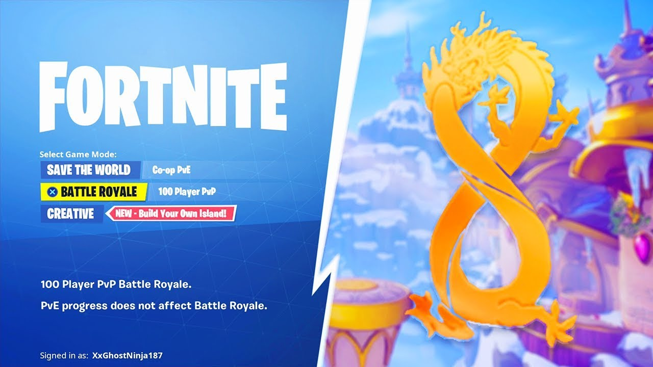 The New SEASON 8 in Fortnite..