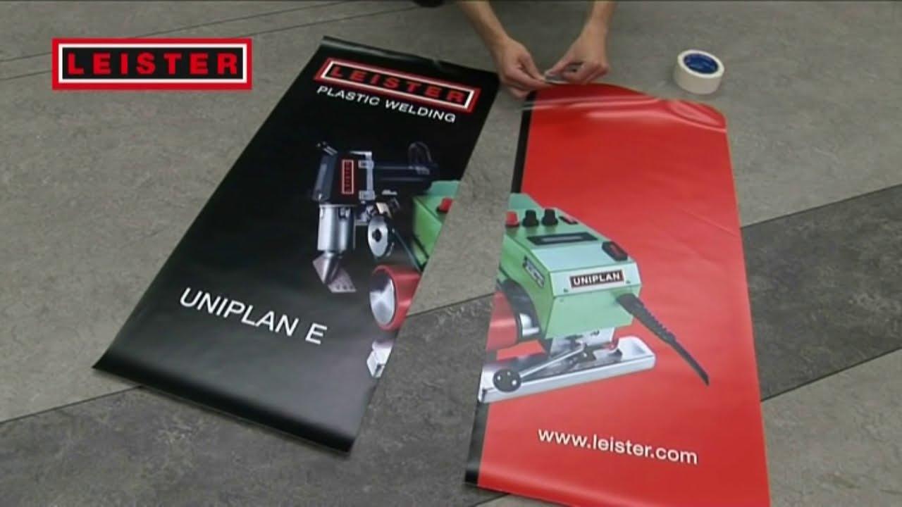 Hot Air Welding Of Industrial Fabrics Uniplan Youtube