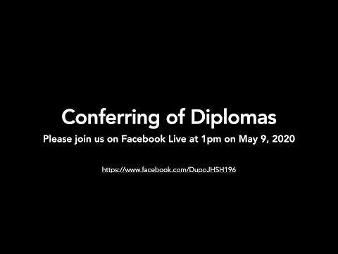 Dupo High School Virtual Graduation 2020