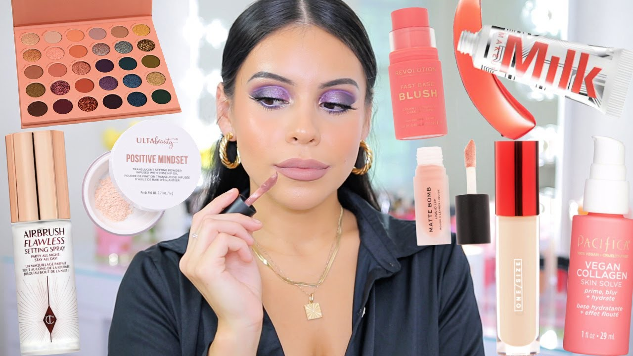 Download TESTING NEW MAKEUP: FIRST IMPRESSIONS 😬 (drugstore + high end)