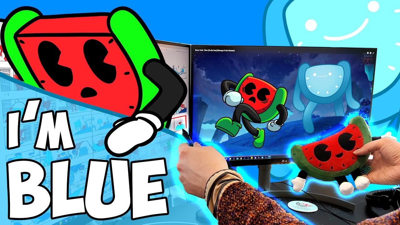 Download Steve Void - Blue (Da Ba Dee) (Lyric Storyboard Video) [Strange Fruits Release]
