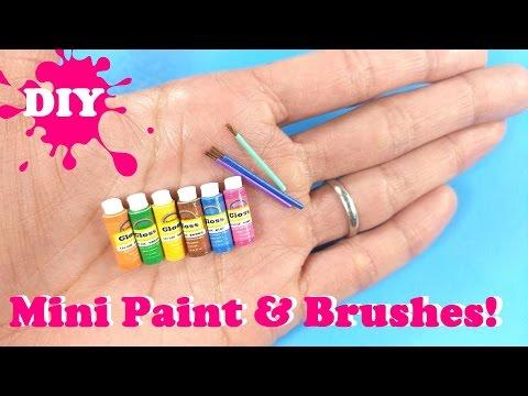 DIY Realistic Miniature Acrylic Paint & Paintbrushes