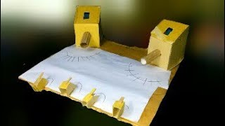 How To Make a Warship Battle|| Marble Game|| Out Of Cardboard || new 2017 ||