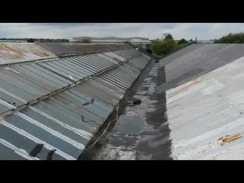 Valley guttering survey - drone footage