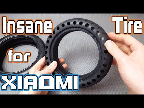 Futuristic Solid Tire For Xiaomi M365 Scooter It Looks Amazing  4K Review & Ride
