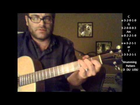 """How to play """"The Show"""" by Lenka on acoustic guitar (Made Easy)"""