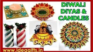 Decorative Candles - Designer Corporate Diya Gift Sets For Diwali Gifting Exporters In India