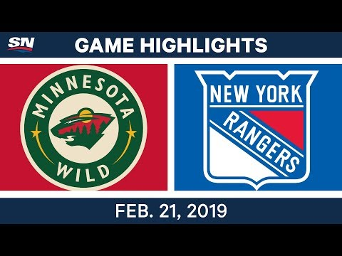 NHL Highlights | Wild vs. Rangers - Feb 21, 2019
