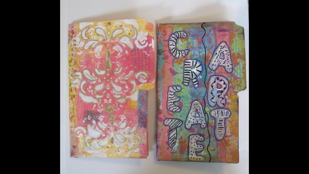 How To Make A DIY File Folders Mini Tag Books Folder Art Journal