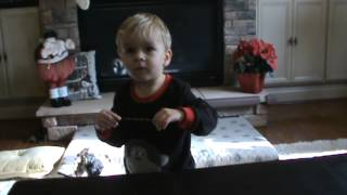 Grayson Conducting on Christmas Eve