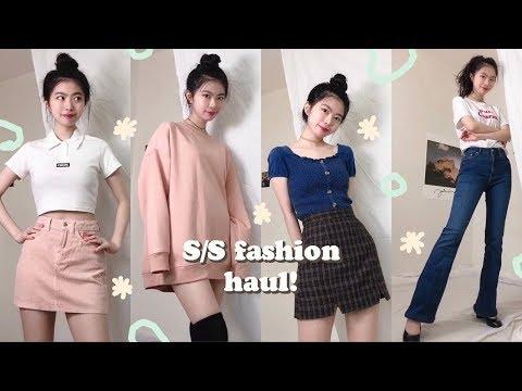 (eng) S/S FASHION HAUL ❋ 봄여름 패션 하울 〰️ (부츠컷 팬츠, 키즈 원피스(!), 크롭티 etc)